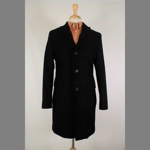 Banana Republic S Black Wool Blend Trench Coat